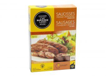 Saucisses orange canneberge