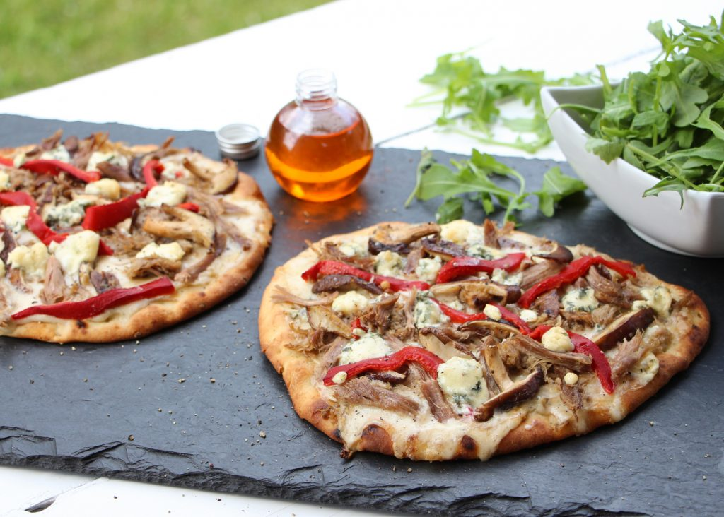 pizza confit canard pain naan
