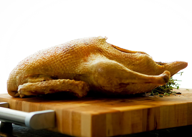la méthode infaillible de cuisson d'un canard entier rôti