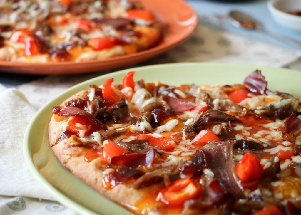 pizza BBQ canard