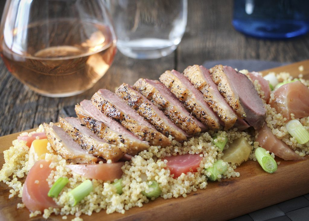 poitrine de canard sur quinoa