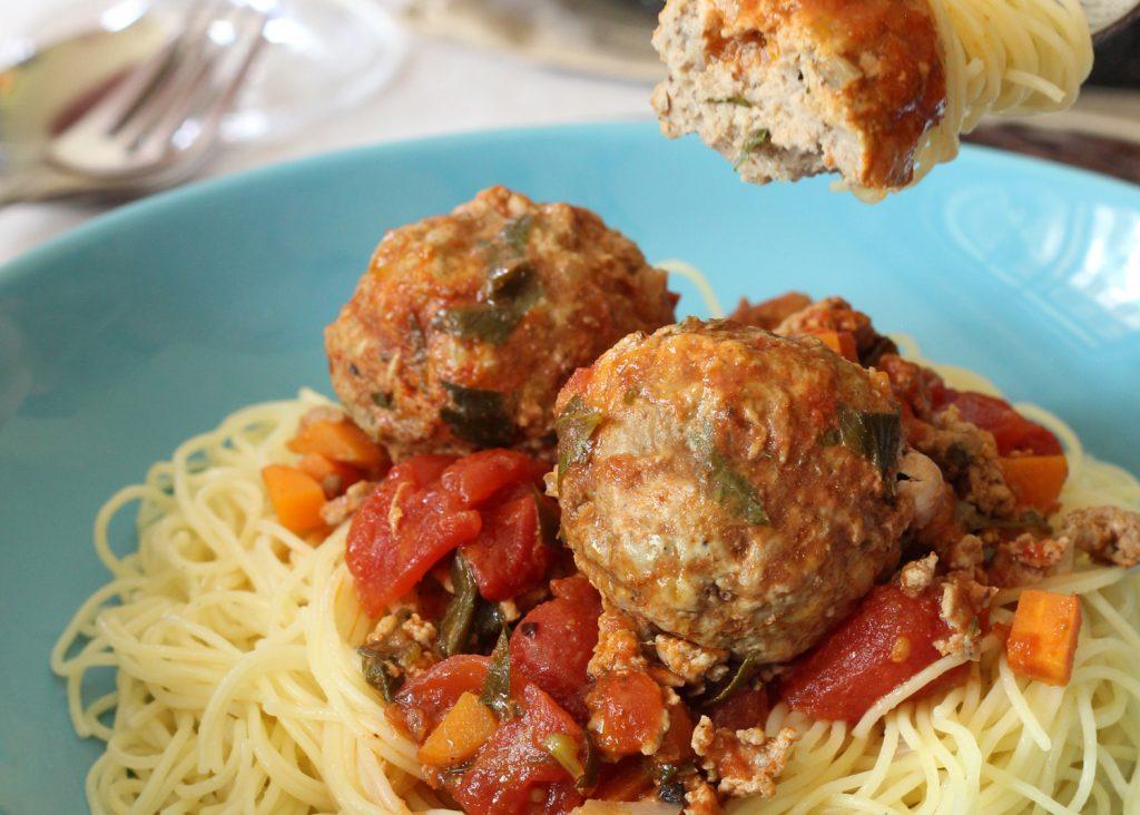 spaghetti boulette viande canard