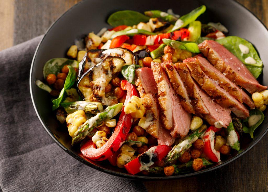 salade canard grillé